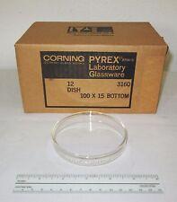 12 NEW Corning 3160-101BO Glass Pyrex Petri Dish Dishes Bottoms, 100x15