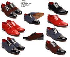 Retro De Colección Harry para Hombre de Cuero de Imitación Brillante Zapatos Casuales De Fiesta Boda puntiagudo