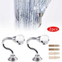 2x Kristall Glas Vorhang Haken Gardinenhalter Vorhanghalter Raffhalter Raffhaken