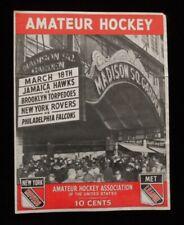 >orig. 1945 Vintage HOCKEY PROGRAM: Philadelphia Falcons, New York Rovers++