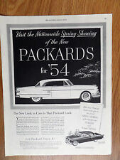 1954 Packard Pacific Hardtop & Clipper Ad Nationwide Spring Showing