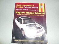 HAYNES BUICK/OLDS/PONTIAC FULL-SIZE MODELS 1985-2005 Repair Manual - BOOK