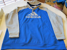 Adidas Climawarm fleece pullover jacket 3XL hoody hoodie coat Mens blue grey hth