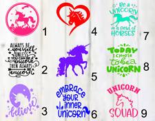 Unicorn decals 3x3 Single color Vinyl A