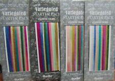2 Bucilla 100% Silk 7mm Embroidery Ribbon Variegated Starter Packs 10 Yd Each