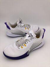 SAMPLE Nike Kobe Bryant Mamba Fury Lakers Home White Purple Size 9 Ck2087-101