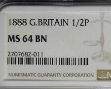 GREAT BRITAIN 1888 HALF PENNY NGC MS 64 BN
