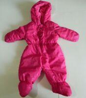 Rothschild 0-6 Months Pink Rose Floral Snowsuit Bodysuit