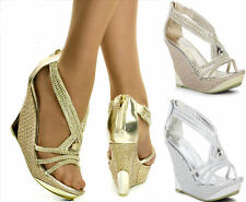High Heel (3-4.5 in.) Peep Toes Bridal Shoes