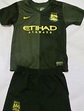 Boys Manchester City football kit shirt+shorts size 2-3 years black colour Nike
