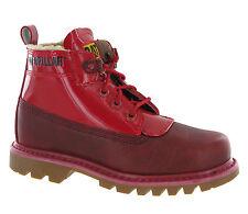 Cat Caterpillar Alex patente Rojo De Piel Forrada de Moda Cuero Botas para mujer Talla 6 Reino Unido