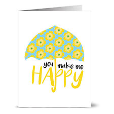 24 Note Cards - You Make Me Happy - Yellow Envs