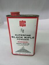 Vintage Advertising Black Rifle Gun Powder Tin Can Empty M-926