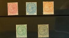 TOBAGO  1 - 5  Beautiful  Mint   Hinged  KEY   Set   ss 185