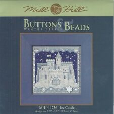 Christmas Ice Castle Mill Hill Buttons Beads Cross Stitch Kit