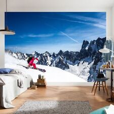 Mountain Ski Snow Sky Extreme Sports Photo Wallpaper Wall Mural Home Bedroom
