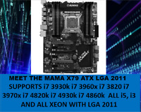 INTEL SOCKET X79 Motherboard LGA 2011 ATX OR ECC USB 3.0 SLI/CROSSFIR I7/XEON