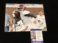 🔥Jerry Jeudy Signed NCAA 8x10 Alabama Crimson Tide JSA Autograph Football
