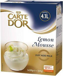 Carte D'Or Lemon Mousse Dessert Powder Mix, 600g (Makes 4.1L)