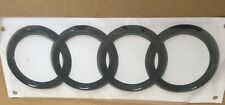 AUDI RINGS BLACK GLOSS REAR BOOT BADGE EMBLEM 178mm X 58mm FITS TT Q A R series