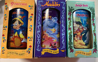 Burger King Walt Disney Glasses Snow White Pinocchio Jungle Book 1994 Lot of 3