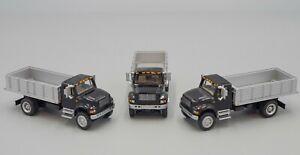 "Boley #4034 HO Scale 1/87 (3X) International 'Black"" 2 Axel Stake Truck"