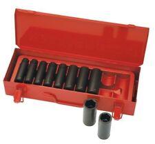 """Sidchrome AF IMPACT SOCKET SET XS410LT 10Pieces 1/2"""" SD, Carry Case *Aust Brand"""