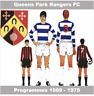 Programme Queens Park Rangers Football Loftus Rd Programmes 1969 - 1975 Various