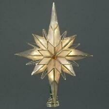 Kurt Adler Bethlehem Star Gold Christmas Tree Topper Light Set, Warm White