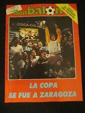 DON BALON 550 REAL ZARAGOZA-BARCELONA-VALENCIA-REAL SOCIEDAD-OSASUNA-LIGA 85-86