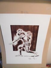 "19""x 25""  BJORN BORG LITHOGRAPH  NUMBERED 1/500, SIGNED BY RAYMOND Warsager 1980"