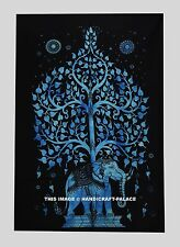 Indian Mandala Elephant Tree Of Life Wall Hanging Tapestry Throw Dorm Decor Art