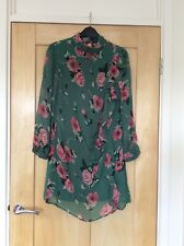 ASOS Green Floral Dress Size 8 Petite BNWT New