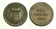pcc1248_5) DUCATO di MASSA MARIA BEATRICE e CYBO 1790/1796 2 Soldi 1792 - RARA