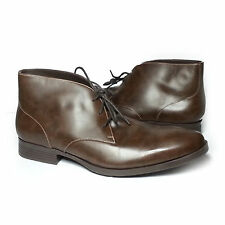 Cole Haan Men Size 10.5 Brown Leather Copley Chukka Boots Made in India New