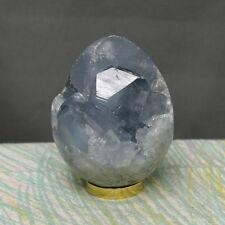 "2.62"" Gorgeous Blue Celestite Egg Geode Sphere Druzy Crystal Reiki Globe, Clt416"