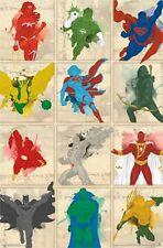 JUSTICE LEAGUE - CHARACTERS POSTER - 22x34 DC COMICS SUPERMAN BATMAN FLASH 14324