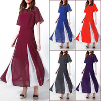 Women Summer Chiffon Boho Casual Long Maxi Party Beach Dress Sundress