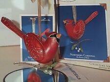 2005 HALLMARK ORNAMENT NORTHERN CARDINAL 1ST IN SERIES THE BEAUTY OF BIRDS NIB