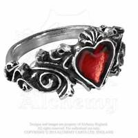 ALCHEMY GOTHIC - BETROTHAL RING - GOTH PAGAN PUNK ROCK LOVE HEART