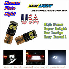 2x License Plate Light T10 192 168 194 Bulb White 4014 LED 18SMD W5W Lamp US