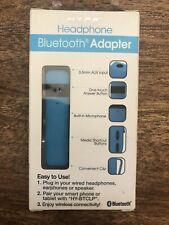 HYPE Bluetooth adapter Plug headphone into jack & turn it wireless Blue NEW