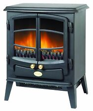Dimplex Tango 2kw Electric Stove - Optiflame Real Coals Black Cast Iron Style