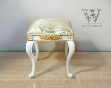 1/4 stool, baroque tabouret for doll 16 inch, BJD doll furniture