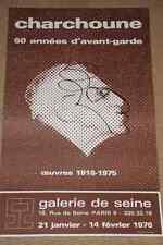 Affiche originale exposition Charchoune Paris 60 années d'avant-garde Dada 1976