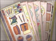 7 pks Stickers CREATIVE MEMORIES Jumbo COTTAGE GAZEBO Family Designs Birthday