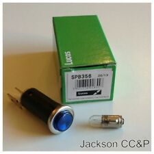 BSA Triumph Norton MG Mini Lucas SPB356 Blue Warning Light/Lamp with 6V Bulb