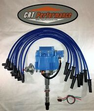 AMC/JEEP 290,304,343,360,390,401 HEI DISTRIBUTOR BLUE + 8MM SILICONE PLUG WIRES