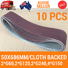 10X Sanding Belts 50x686mm Cloth Backed Linisher FITS Ryobi: HBGL650, RBGL650G
