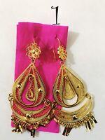 Frida Kahlo filigree earrings Gold-plated from Oaxaca Aretes Filigrana Chapeada
